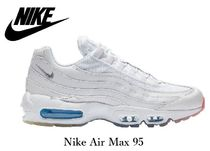 Nike AIR MAX 95 Street Style Plain Leather Sneakers