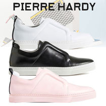 Pierre Hardy Gingham Street Style Leather Sneakers