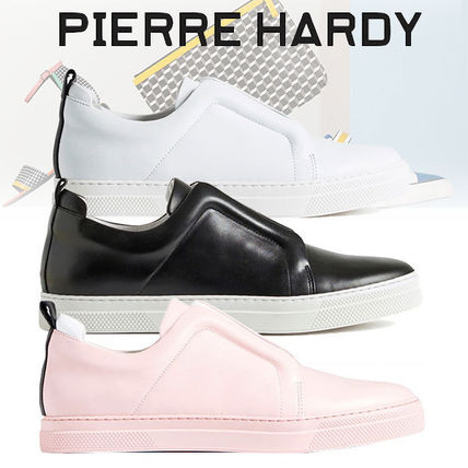 Gingham Street Style Leather Sneakers