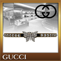GUCCI Costume Jewelry Studded Leather Party Style With Jewels