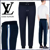 Louis Vuitton Blended Fabrics Street Style Bi-color Plain Cotton