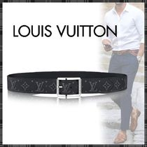 Louis Vuitton MONOGRAM Monogram Blended Fabrics Street Style Bi-color Long Belt