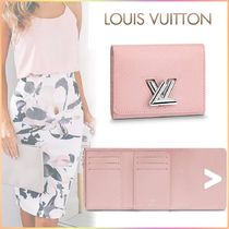 Louis Vuitton Blended Fabrics Plain Leather Small Wallet Folding Wallets