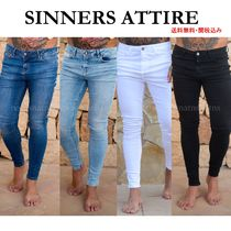 SINNERS ATTIRE Denim Street Style Skinny Fit Jeans & Denim