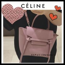 CELINE Belt Calfskin 3WAY Plain Elegant Style Shoulder Bags