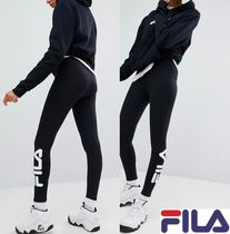FILA Blended Fabrics Street Style Cotton Leggings Pants