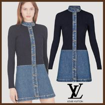 Louis Vuitton Short Casual Style Tight Blended Fabrics Long Sleeves Plain
