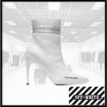 Off-White Leather High Heel Boots