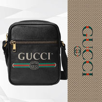 GUCCI Stripes Unisex Street Style 2WAY Plain Leather