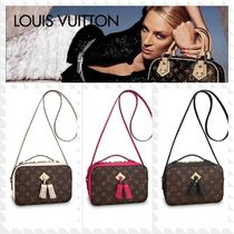 Louis Vuitton 2WAY Leather Fringes Elegant Style Shoulder Bags