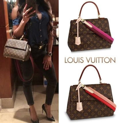e13d74861742 ... Louis Vuitton Handbags 2WAY Plain Leather Elegant Style Handbags ...
