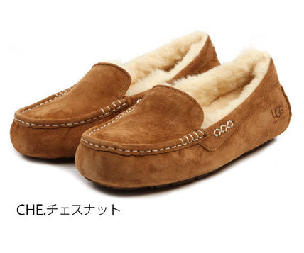 UGG Australia Slip-On Moccasin Round Toe Casual Style Sheepskin Plain 6