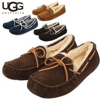 UGG Australia OLSEN Moccasin Sheepskin Plain U Tips Loafers & Slip-ons