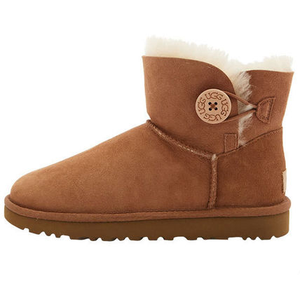 UGG Australia Ankle & Booties Rubber Sole Casual Style Sheepskin Plain 4