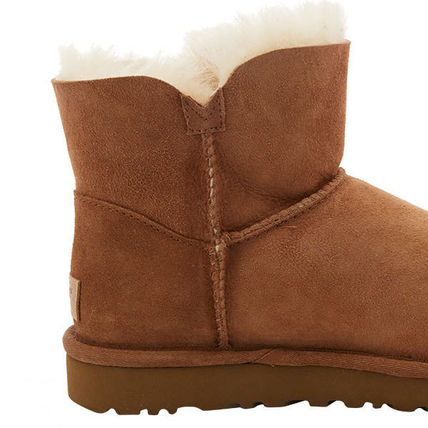 UGG Australia Ankle & Booties Rubber Sole Casual Style Sheepskin Plain 5