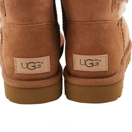 UGG Australia Ankle & Booties Rubber Sole Casual Style Sheepskin Plain 6