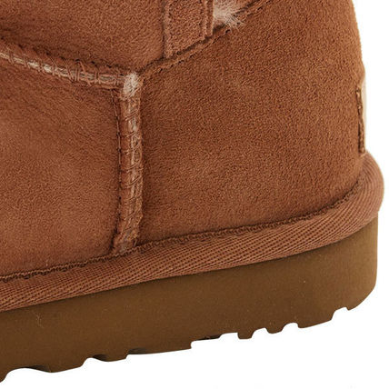 UGG Australia Ankle & Booties Rubber Sole Casual Style Sheepskin Plain 8