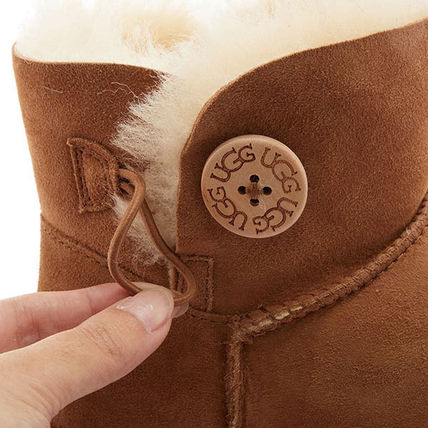 UGG Australia Ankle & Booties Rubber Sole Casual Style Sheepskin Plain 9