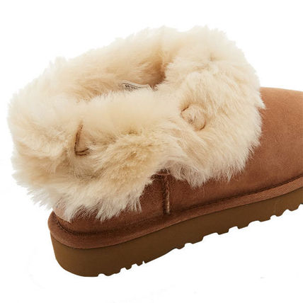 UGG Australia Ankle & Booties Rubber Sole Casual Style Sheepskin Plain 10