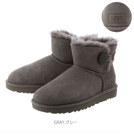UGG Australia Ankle & Booties Rubber Sole Casual Style Sheepskin Plain 13