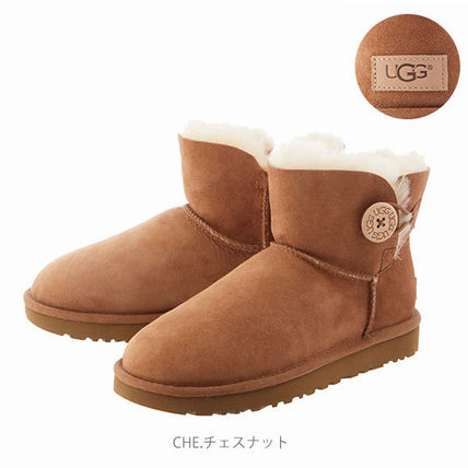 UGG Australia Ankle & Booties Rubber Sole Casual Style Sheepskin Plain 14