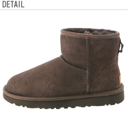 UGG Australia Ankle & Booties Round Toe Rubber Sole Casual Style Fur Plain 3