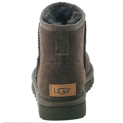UGG Australia Ankle & Booties Round Toe Rubber Sole Casual Style Fur Plain 4