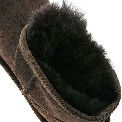 UGG Australia Ankle & Booties Round Toe Rubber Sole Casual Style Fur Plain 5