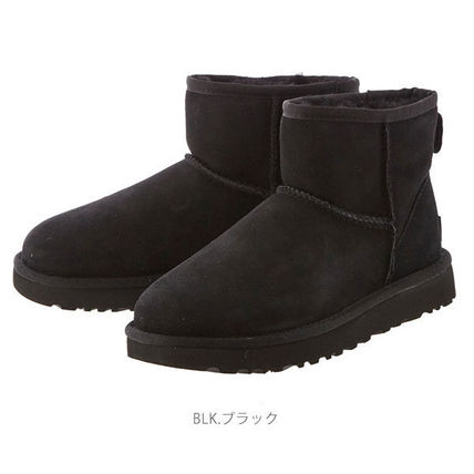 UGG Australia Ankle & Booties Round Toe Rubber Sole Casual Style Fur Plain 7