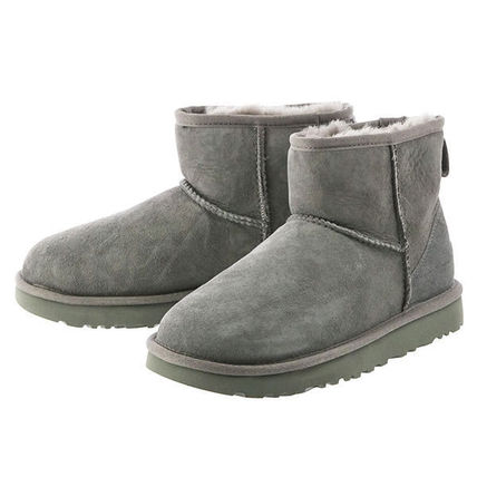 UGG Australia Ankle & Booties Round Toe Rubber Sole Casual Style Fur Plain 10