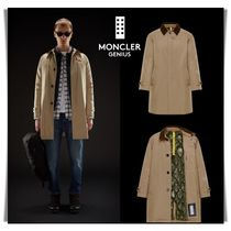 MONCLER Blended Fabrics Plain Long Chester Coats