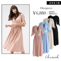 Chicwish V-Neck Plain Long Dresses