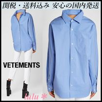VETEMENTS Long Sleeves Cotton Shirts & Blouses