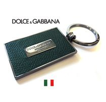Dolce & Gabbana Plain Leather Keychains & Holders