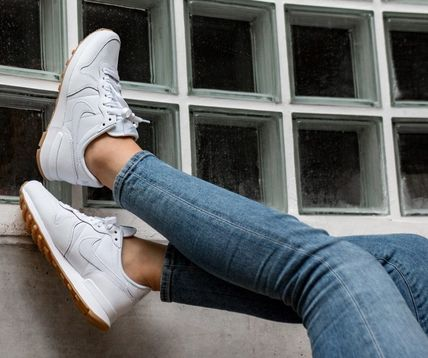 new style f89a4 1920e ... Nike Low-Top Casual Style Street Style Plain Leather Low-Top Sneakers  ...