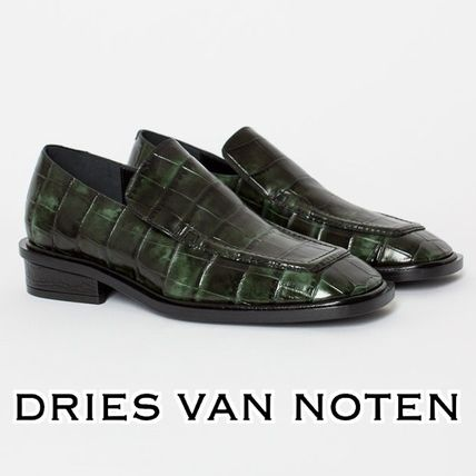 a1365bf4a70 ... Dries Van Noten Loafer Square Toe Casual Style Other Animal Patterns  Leather ...