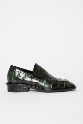 7a2b60aee4e ... Dries Van Noten Loafer Square Toe Casual Style Other Animal Patterns  Leather 3 ...