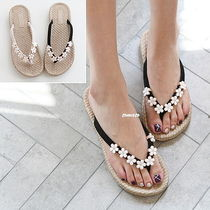 Open Toe Casual Style Plain Flip Flops Flat Sandals