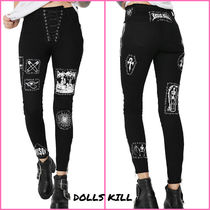DOLLS KILL Casual Style Cotton Long Skinny Jeans
