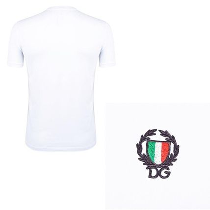 Dolce & Gabbana Crew Neck Crew Neck Plain Cotton Short Sleeves Crew Neck T-Shirts 3