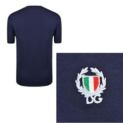 Dolce & Gabbana Crew Neck Crew Neck Plain Cotton Short Sleeves Crew Neck T-Shirts 4