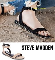 Steve Madden Open Toe Casual Style Suede Street Style Plain Sandals