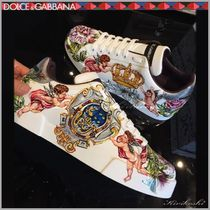 Dolce & Gabbana Flower Patterns Leather Sneakers
