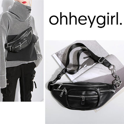 Casual Style Faux Fur Street Style Bags