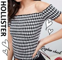 Hollister Co. Gingham Cotton Bandeau & Off the Shoulder