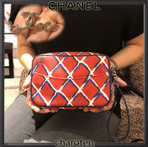 CHANEL ICON Other Check Patterns Casual Style Cambus Blended Fabrics
