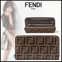 FENDI Monogram Calfskin Long Wallets