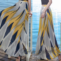 Flared Skirts Stripes Casual Style Long Home Party Ideas