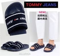 Tommy Hilfiger Open Toe Rubber Sole Casual Style Street Style Shower Shoes