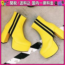 DOLLS KILL Stripes Platform Round Toe Casual Style Plain